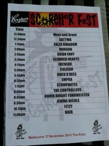 Scorcher Fest Melbourne 2013